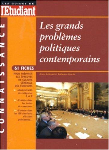 Les grands problèmes politiques contemporains