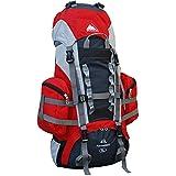 Cox Swain Trekkingrucksack 45l mit hervorragenden Trageeigenschaften, Colour: Red/Grey