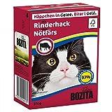 BOZITA Nassfutter BOZITA HÄPPCHEN in Gelee mit Rinderhack 370g für Katzen