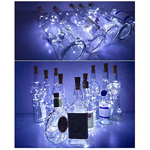Prevently Lichterkette Batterie, 14 Stücke Cork Shaped LED Nachtlicht Sternenlicht Weinflasche Lampe Für Party Decor Valentinstag Dekoration  (White) (Die Halloween-party Für Guter Wein)