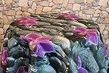 Wetterfeste OUTDOOR – Tischdecke mit wunderschönem Motiv - verschiedene Größe und Motive stehen zur Auswahl - die perfekte Tischdecke für drinnen und draußen - geeignet für Haus, Terrasse, Balkon und Garten - ABWASCHBAR - WIND- und WETTERFEST - WITTERUNGSBESTÄNDIG und WASSER- und SCHMUTZABWEISEND – Neu aus dem KAMACA-SHOP (160 cm rund, Flower)