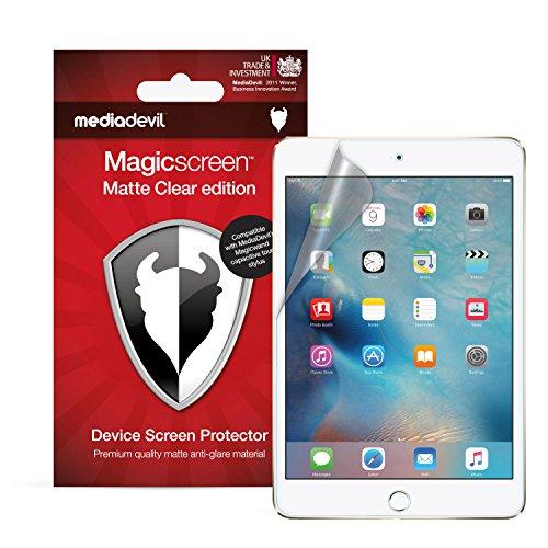 MediaDevil Apple iPad Mini 4 (2015) Bildschirmschutzfolie: Magicscreen Matte Clear (Blendschutz) Edition [2 Stück]