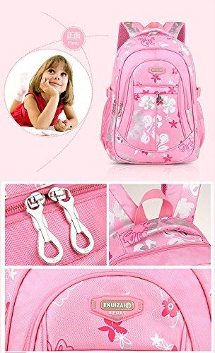 Mädchen Jungen Mädchen Rucksack Schulrucksack Ranzen Kinder Schulranzen Schultasche Rose rot Rose rot