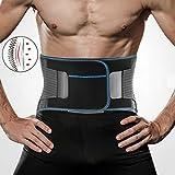 BKMWL New Elastic Belt Übung Fitness Einstellbare Anti-Rutsch-Portable Relief Taille Rückenschmerzen Woman Posture Deportment Korrektur Taille,L