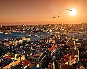 Okounoko Malen Nach Zahlen Istanbul Stadt Zeichnungsfärbung Bilder