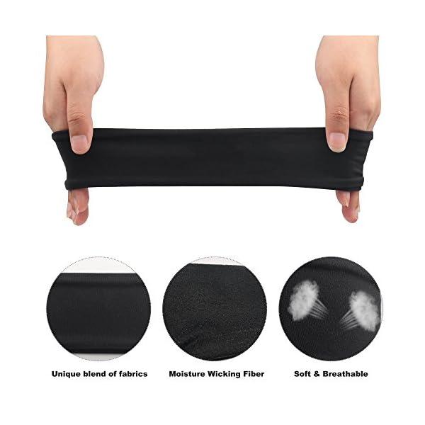 IPOW 2 pz Headband Fasce da Corsa Fascia Capelli Uomo Fascia antisudore Testa Antisscivolo e e Antisudore Traspirante… 4 spesavip