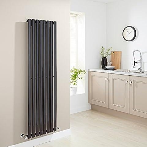 HUDSON REED - Radiateur Chauffage Central Vertical Design - Acier Noir Foncé - 160 x 47cm 1571W