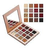 LINGYU Permanent Lidschatten Palette Matte Schimmer  Wasserdicht 16 Farben  Eyeshadow  Make-Up Valentinstag Geschenke