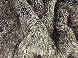 Super Luxus Kunstfell Stoff Material-Arktis grau Wolf, grau, 1/8Mtr - 50cm x 37cm