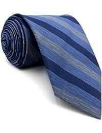 Shlax Wing Rayas Azul Corbatas Para Hombre Seda Tie Set Traje de negocios  Fashion Corbata Flaca Extra acd628f8b2e