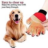 Freefa-Pflegehandschuhe, Bürstenhandschuhkamm für Bademassagen für lange und kurze Haare für Hunde, Katzen, Kaninchen, Pferde, 2er Pack (links und rechts, grün)