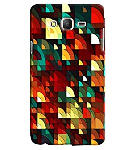 Blue Throat D Square Pattern Printed Designer Back Cover For Samsung Galaxy On 7
