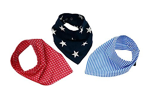 Wobbly Walk Bandana Bibs Adjustable For Growing Baby Pack Of 3 Pcs