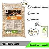 Pellet TIMBORY by PFEIFER 100% Abete - Qualità ENPLUS A1 - Alto potere calorifico (40)