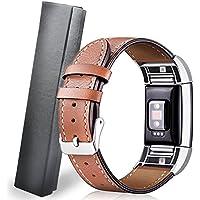 Fitbit Charge 2 Armbänd Ersatz Armband Strap Watchband Fitness Uhrenarmband für Fitbit Charge 2 mit Edelstahlrahmen für Männer / Frauen - Verstellbar