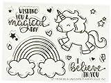 Avery Elleavery Elle Clear Stamp Set 10,2cm x 3-inch-be Un Unicorno, Altri, Multicolore