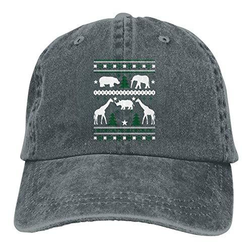 Hoswee Baseballmütze Hüte Kappe Giraffe Ugly Christmas Unisex Truck Baseball Cap Adjustable Hat Sandwich Peaked Caps Sun Hat