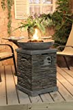Callow Retail Slate effect Gas Fire Pit and Fire Bowl