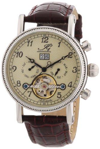 Ingraham - IG SEVI.1.200102 - Montre Homme - Automatique - Analogique - Bracelet Cuir Marron
