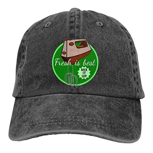 Retro Kitchen Mixer Adjustable Sport Jeans Baseball Golf Cap Hat Unisex Style