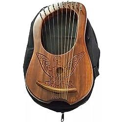 Hw Lyra Harfe 10Metall-saiten Gravur Eagle Lyra Harps Harfe Arpa (Tragetasche
