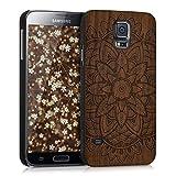 kwmobile Samsung Galaxy S5 / S5 Neo Hülle - Handy Schutzhülle aus Holz - Cover Case Handyhülle für Samsung Galaxy S5 / S5 Neo