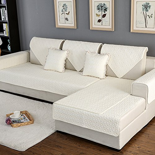 Md&zzyg gettare il protettore di mobili,panno in cotone antiscivolo divano mat cuscino per divani in pelle semplice combinazione universale telo copridivano fodera per divano a braccio-h 28x28 inx 3