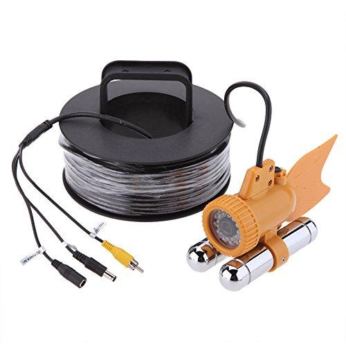 Lixada 24LEDs Weiße Nightvision Wasserdicht Fishfinder, 20M Kabel Unterwasserfischen Color Video 600TVL SONY CCD Kamera Sony-ccd-video-kamera