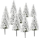 Pack of 10Dark Green Scenery Landscape Model Cedar Trees