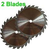 Zwei Kreissägeblätter für Worx worxsaw XL wx427, wx429. 120mm Durchmesser x 9,5mm Bohrung x 24T Holz Schneiden