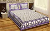 #7: Y2K 2000 Cotton Queen Size Double Bedsheet with Two Pillow Covers - (Purple)