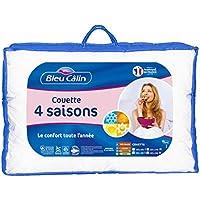 Bleu Câlin Couette 4 Saisons 2 Personnes, 3 Couettes en 1, Blanc, 240x260 cm, KTD