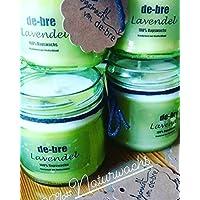 Duftkerze aus Öko Rapswachs/Lavendel/vegan/ca 150gr