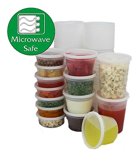 Plástico Contenedor De Ronda a prueba de fugas, apta para microondas y congelador seguro con sturdy de buen ajuste tapa.