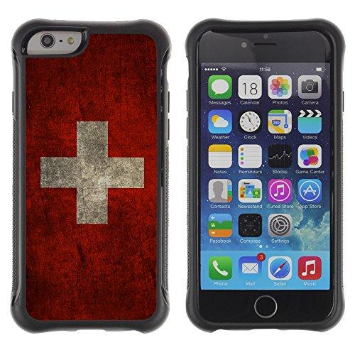 Graphic4You Vintage Uralt Flagge Von Griechenland Griechisch Design Harte Hülle Case Tasche Schutzhülle für Apple iPhone 6 Drapeau Suisse