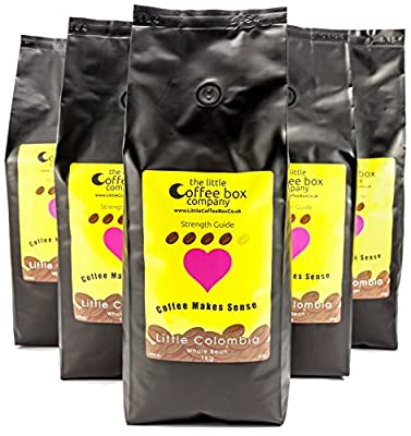 Colombian Coffee Beans Dark Roast 6x1kg - 100% Premium Arabica from The Little Coffee Box Co