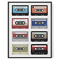 Personalised cassette playlist print // gift for music lovers custom songs