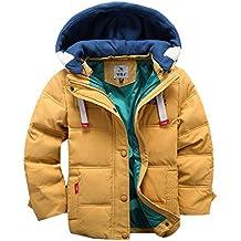 OMSLIFE Winterjacke für Kinder Jungen Mädchen verdickte Daunenjacken Mantel Trenchcoat Outerwear mit Kapuzen