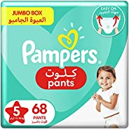 Pampers Pants, Size 5, Junior, 12-18 kg, Jumbo Box, 68 Diapers