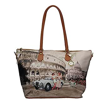 Borsa Y Not Roma Life J-397 Shopping grande