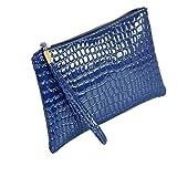 Longzjhd Brieftasche Frau Krokodil Leder Kupplung Handtasche Tasche Münze Geldbörse PU Make-up Bag Aufbewahrungstasche Geldbeutel Beutel Damen Brieftasche Münztüte Tasche