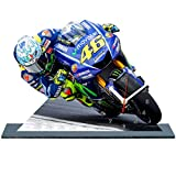 Valentino Rossi Moto GP Yamaha en Horloge Miniature sur Socle 11