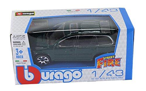 new-burago-1-43-diecast-model-car-burago-street-fire-range-volvo-xc90-awd-in-met-green
