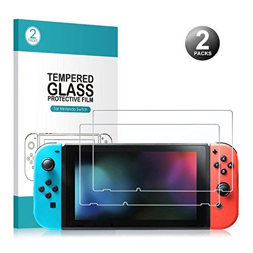 Nintendo Switch Display Schutzfolie - Younik 0,25 mm/9H Premium gehärtetes Glas Displayschutz für Nintendo Switch(2 Packungen), Nicht für ds