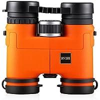 BNISE® - 8x32 Compatto e leggero binocolo Professionale Binoculars - corpo in lega di magnesio - Completamente ottica multi-coated e Fase patinata prismi Bak-4 - Luminoso e non falsata Immagine - Orange - Mini Zaino Mondiale