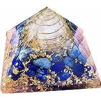 Lapis Lazuli Stein Orgonit Pyramid/Reiki Crytsal Pyramiden zur Heilung und Chakra Home Dekoration 65mm mit Tasche preisvergleich bei billige-tabletten.eu
