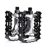 KINLO® 120x85x30mm Trekking Pedale / Fahrrad Pedale MTB / Mountainbike Pedal / mit Reflektoren / Kugellager + Cr-Mo Achse Schwarz