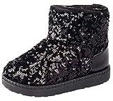 Best DADAWEN Winter Boots - DADAWEN Boy's Girl's Sequin Outdoor Winter Warm Snow Review