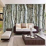 BAHUZHI Wallpaper Moderne Naturlandschaft Birke Wald Foto Tapete Restaurant Wohnzimmer Sofa Hintergrund Wandbild Tapete Für Wände 3D
