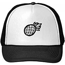 DIYthinker Gorra de béisbol de Nylon Negro piña Dibujo Lineal de Fruta Gorros Gorro Fresca niños del Casquillo del Sombrero Ajustable Regalo para Adultos